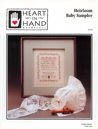 heirloom baby sampler